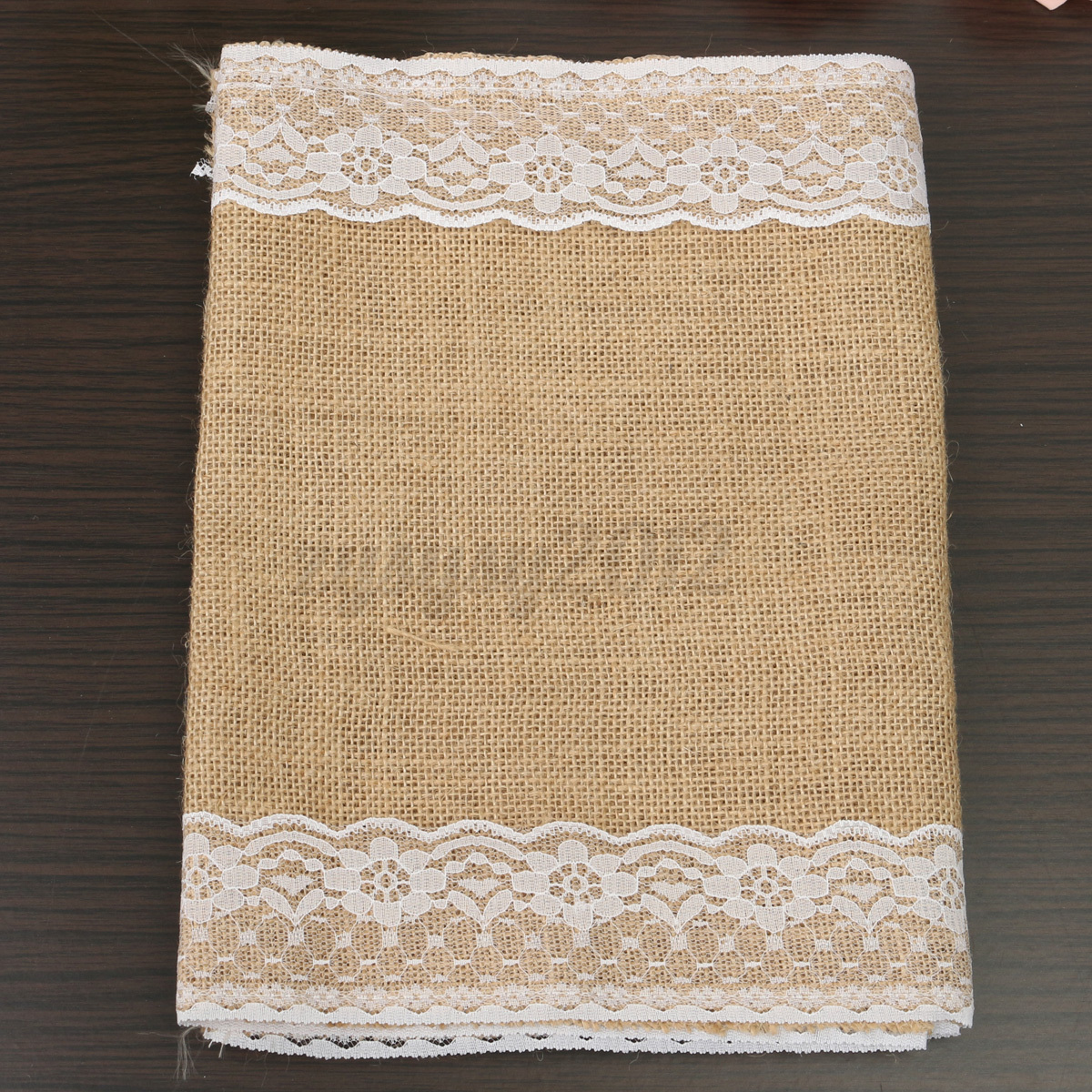 vintage burlap jute hessian lace table runner wedding party decoration ebay. Black Bedroom Furniture Sets. Home Design Ideas