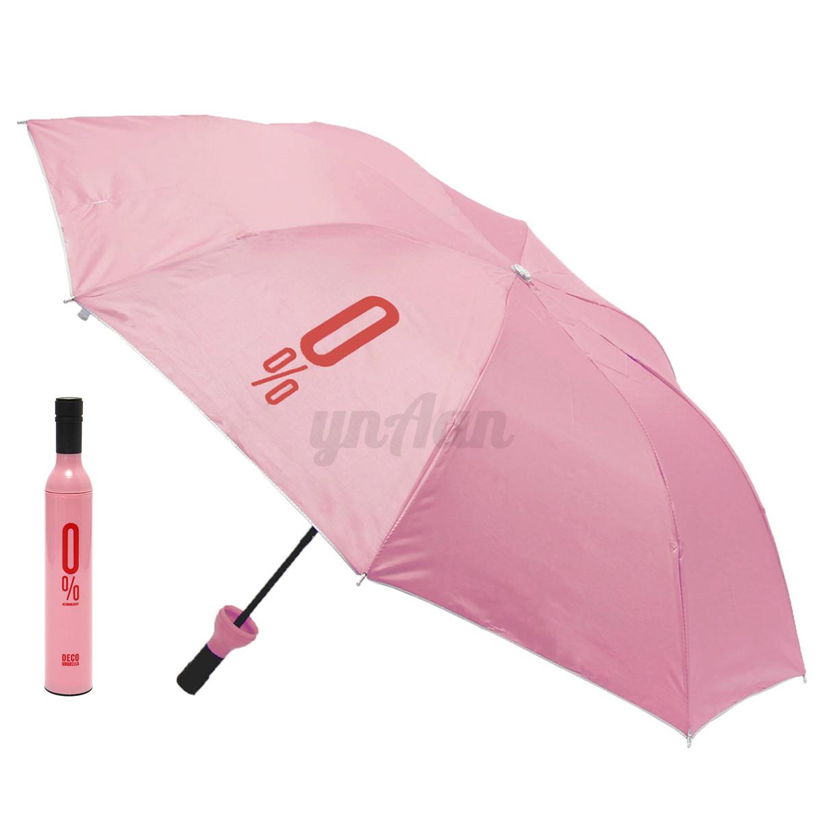 couleur anti vent uv parapluie parasol pliant bouteille vin femme homme portable ebay. Black Bedroom Furniture Sets. Home Design Ideas