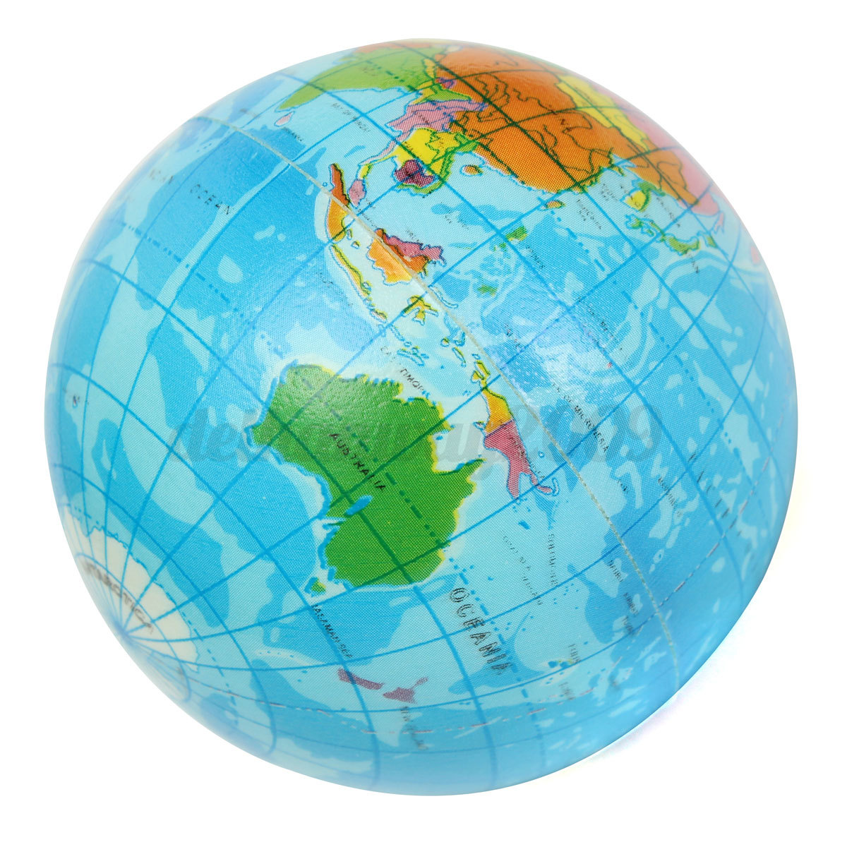 World map globe toy foam earth stress relief ball geography kid image is loading world map globe toy foam earth stress relief gumiabroncs Choice Image