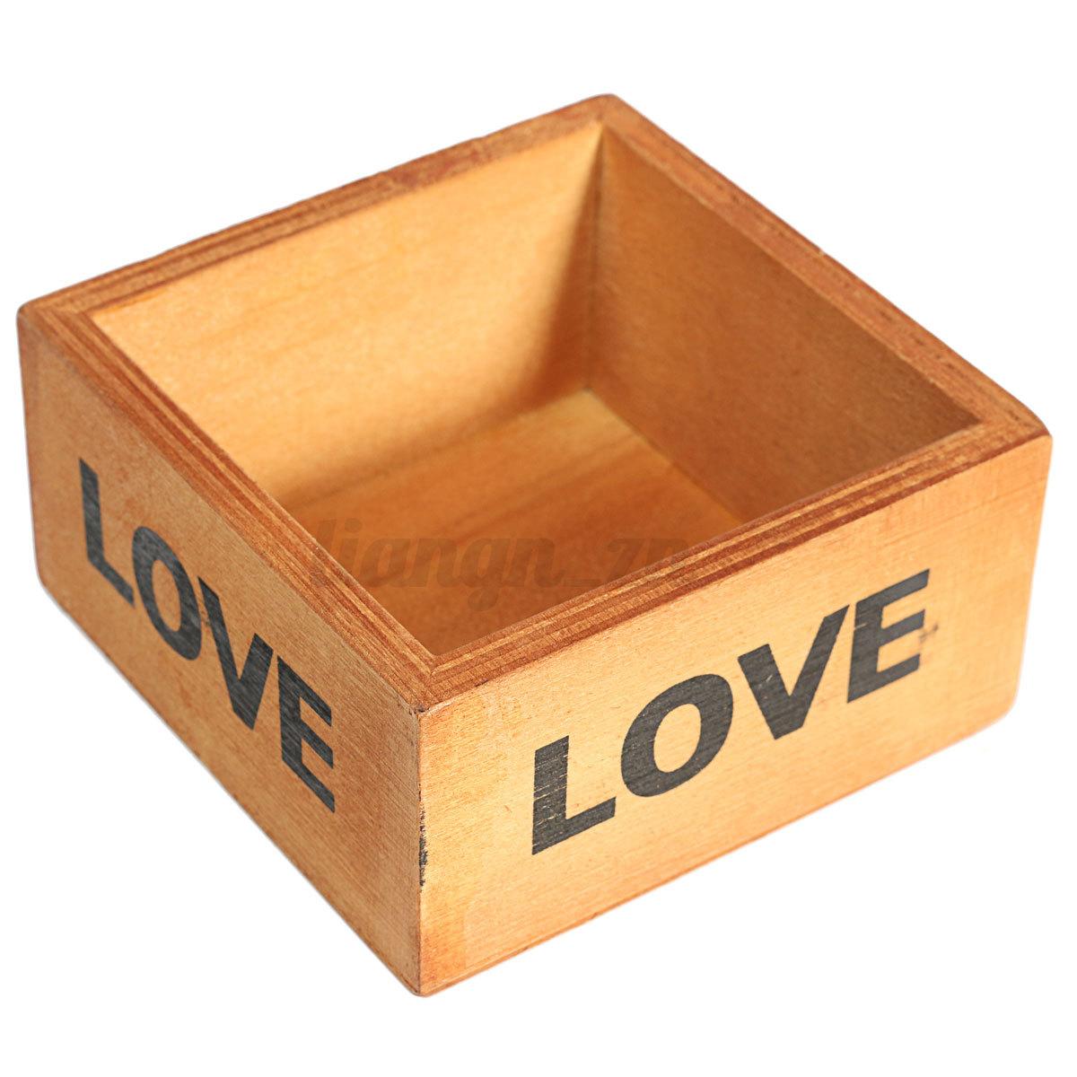 Bo te rangement bureau organisateur en bois cosm tique - Rangement bureau bois ...