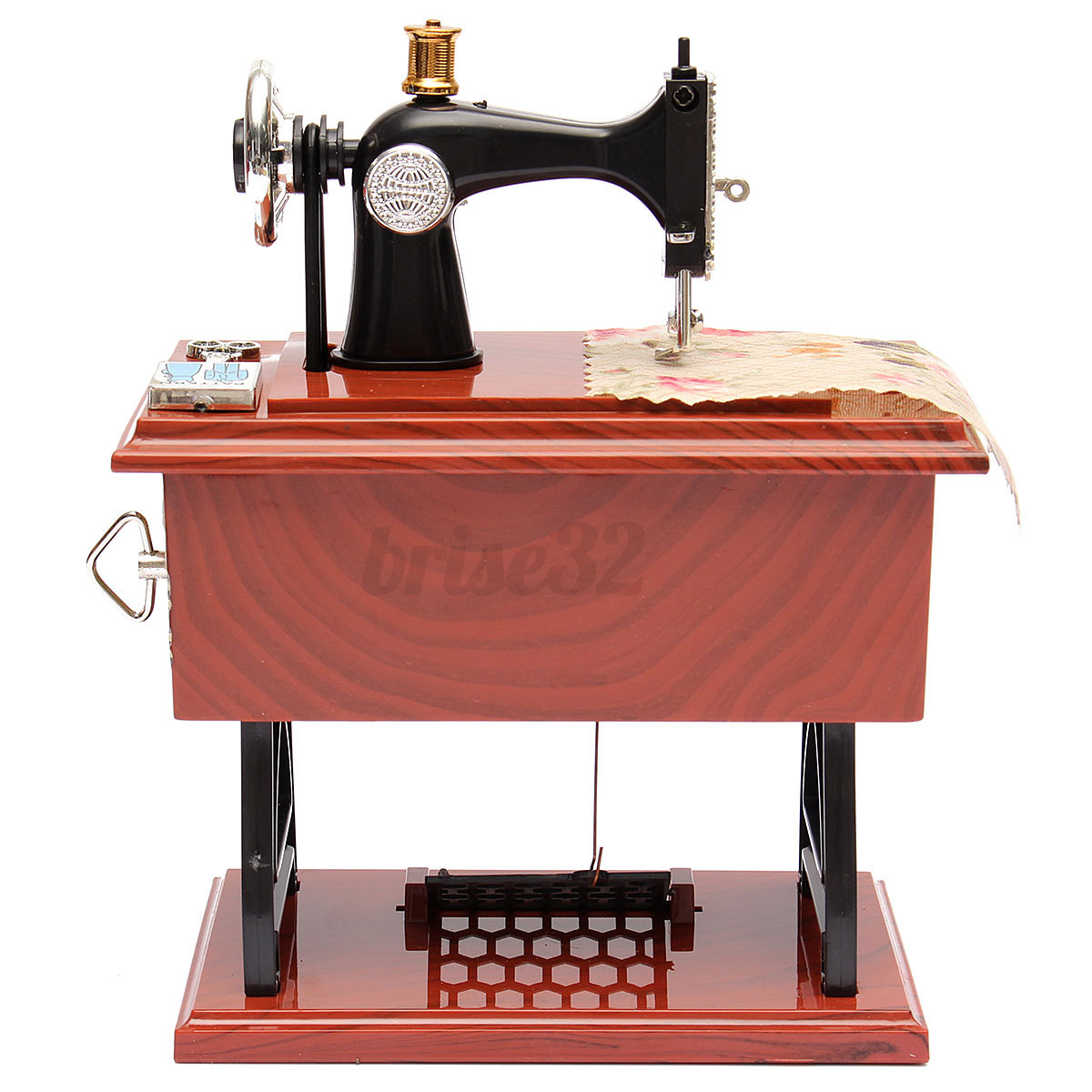 Vintage music box mini sewing machine style mechanical for Decor 99 sewing machine