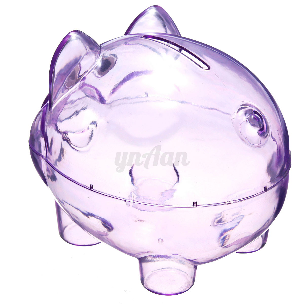 Plastic clear pig piggy bank saving coin cash box money Plastic piggy banks for kids