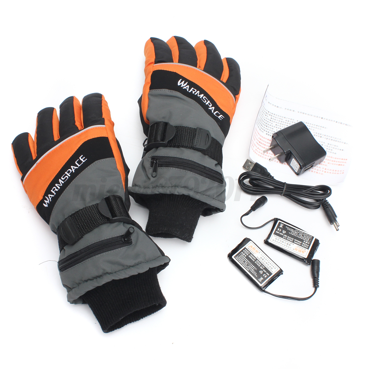 Battery Heat For Outside : Motorcycle outdoor work electric heated gloves