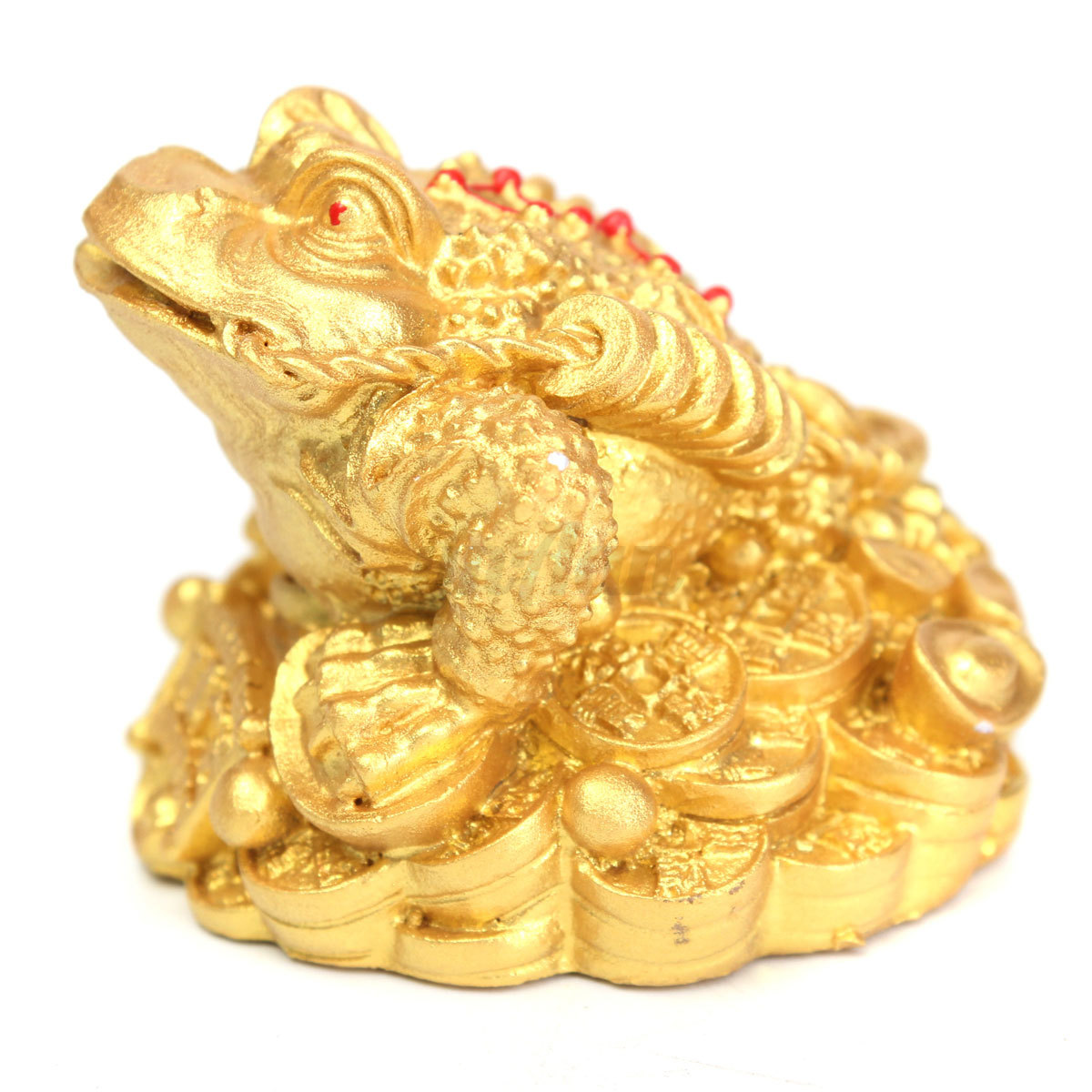 feng shui money 3 legs gilded frog toad ingot copper coin enhance fortune weath ebay. Black Bedroom Furniture Sets. Home Design Ideas