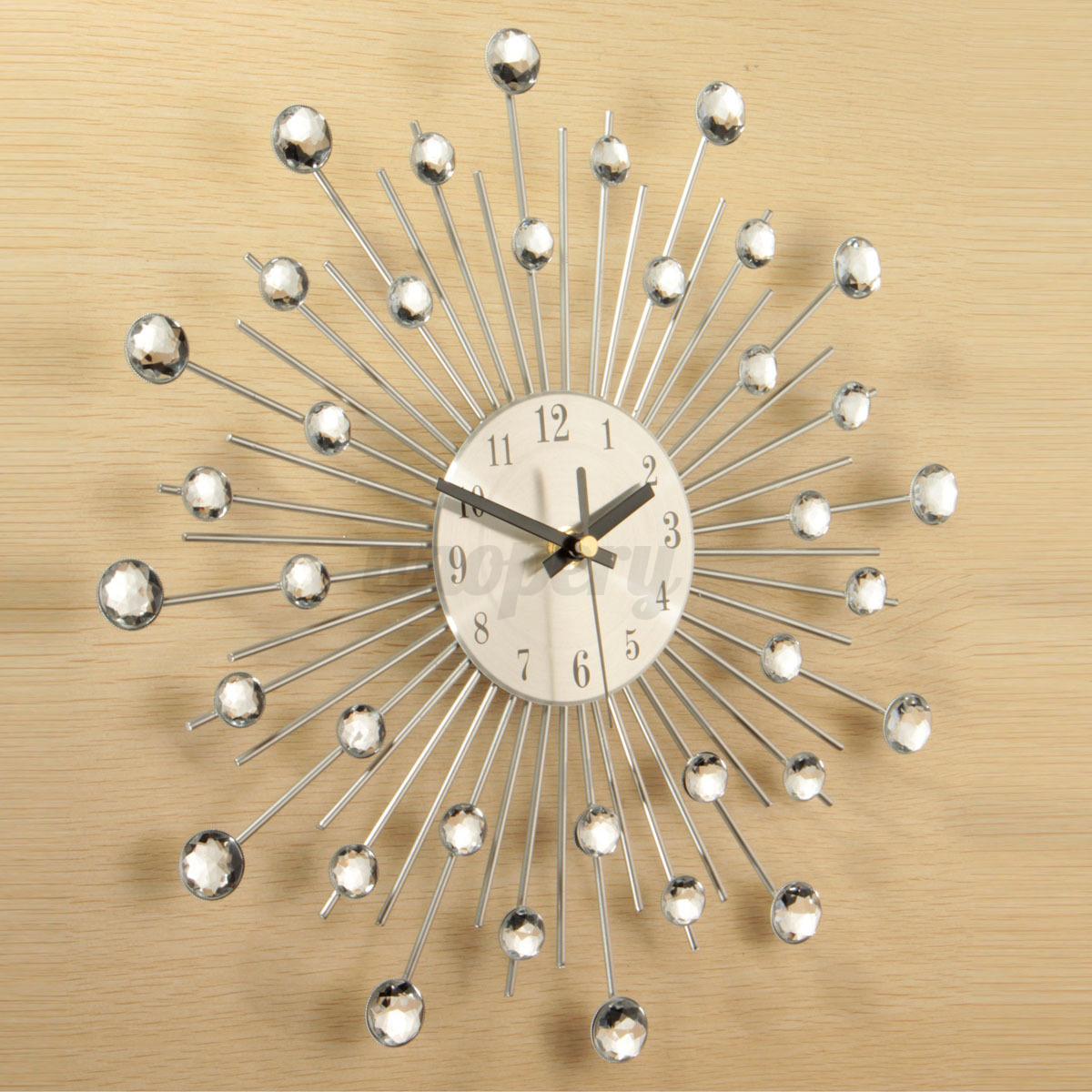 Orologio da parete argento for Orologi parete particolari
