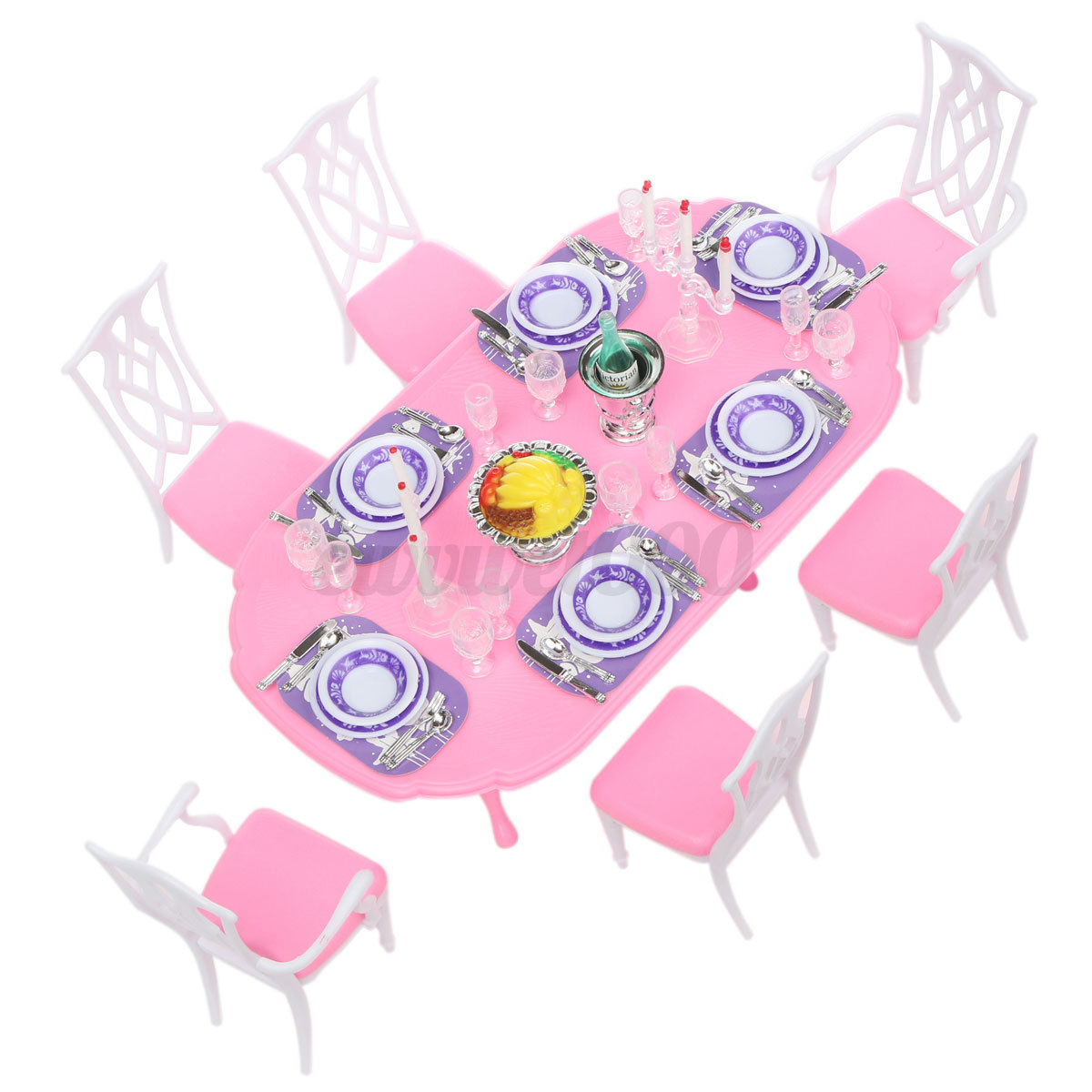 Barbie Room: Chair Table Bed Living Room Dollhouse Miniature Furniture