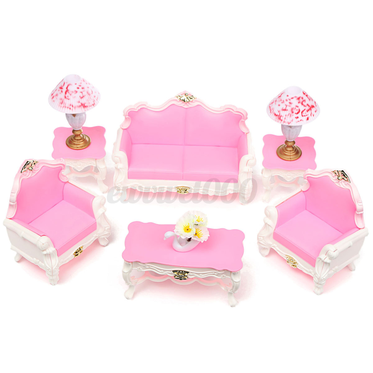 Chair Table Bed Living Room Dollhouse Miniature Furniture Doll Barbie Toys Baby | eBay