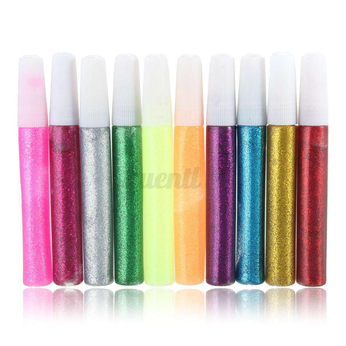New multi colour glitter glue pen for children kids art for Glitter crafts for kids