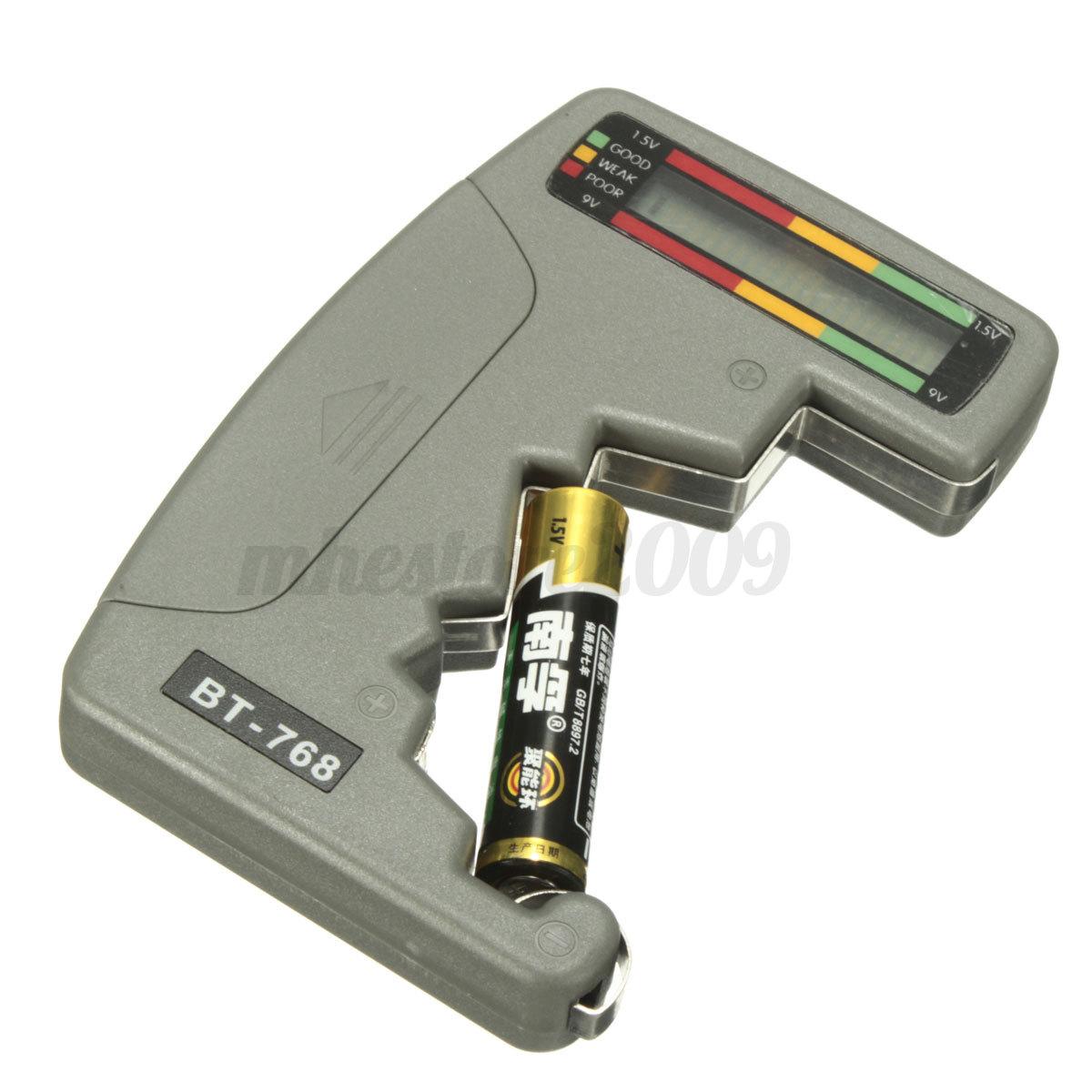 bt 768 digital lcd battery volt tester universal for. Black Bedroom Furniture Sets. Home Design Ideas