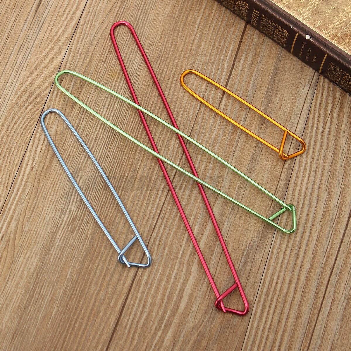Knitting Needle Stitch Holder : 4 Pcs Aluminum Knit Knitting Needles Stitch Holders Safety Pins Crochet Hooks...