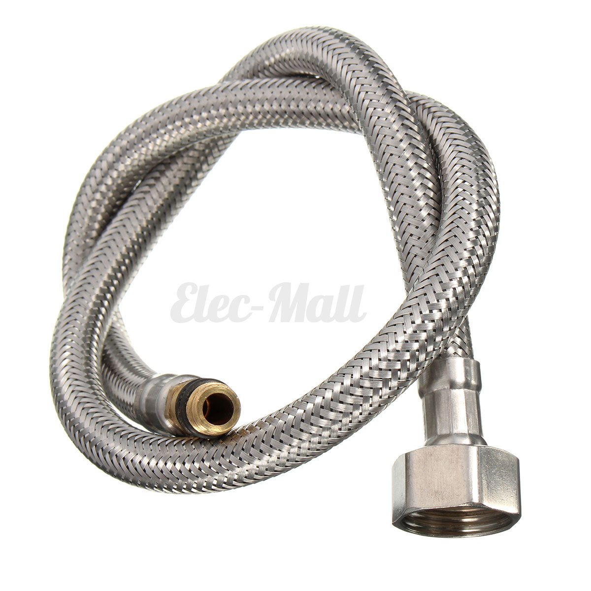 2pcs Stainless Steel Flexible 1 2 Id Water Supply Line Hoses Fit Most Faucets Ebay
