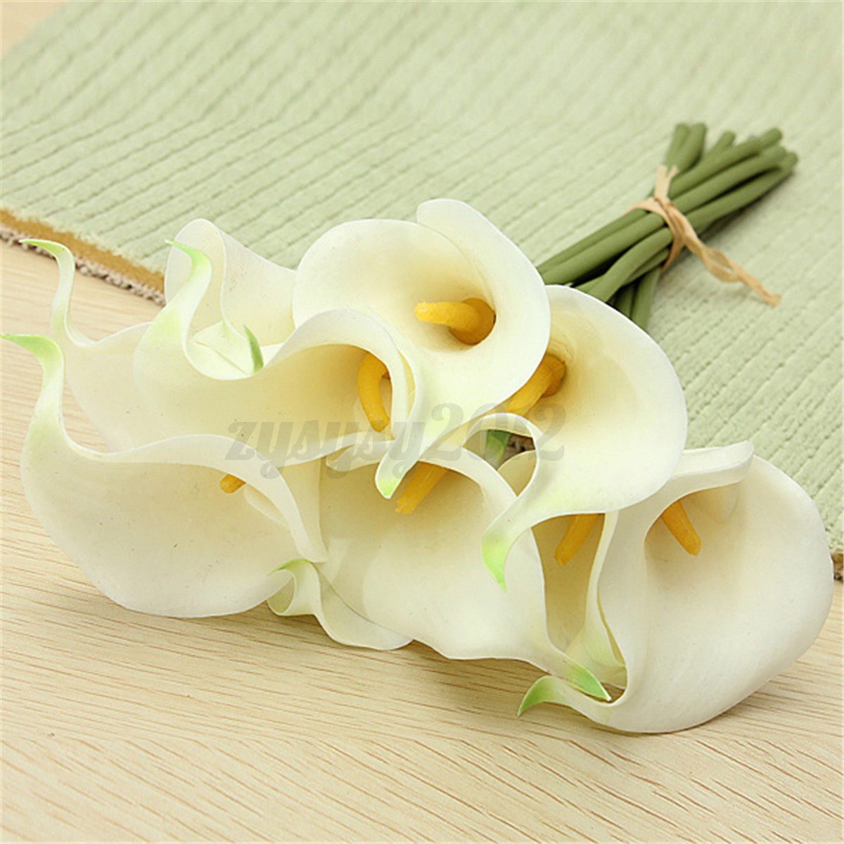 20x sweet artificial latex calla lily flowers bouquet garden wedding 20x sweet artificial latex calla lily flowers bouquet izmirmasajfo