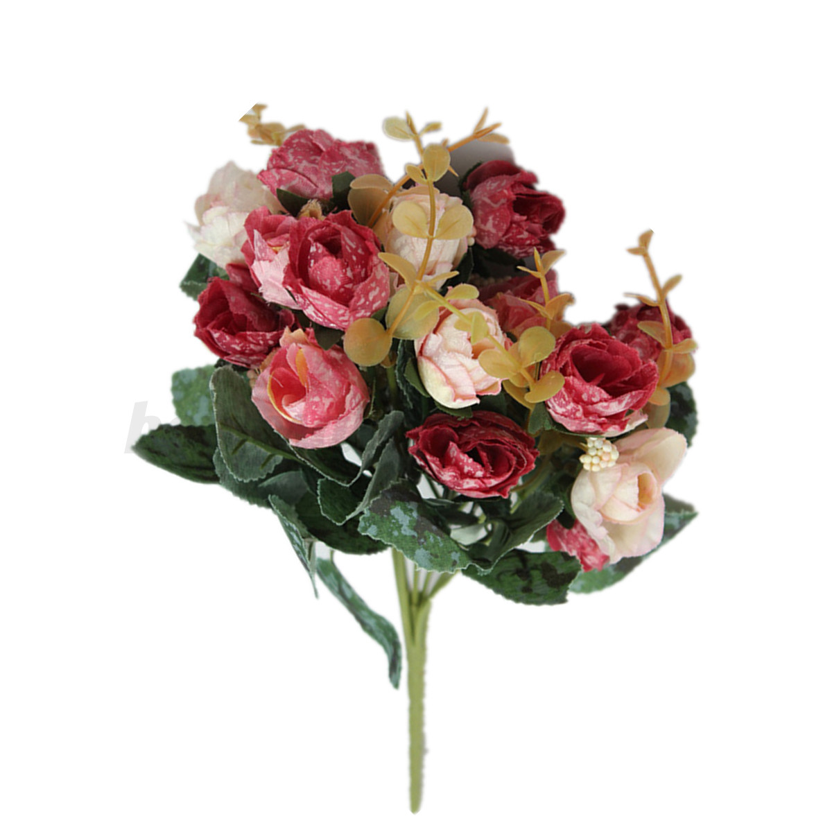 Artificial silk flower party home wedding bridal garden for Fake flowers for crafts