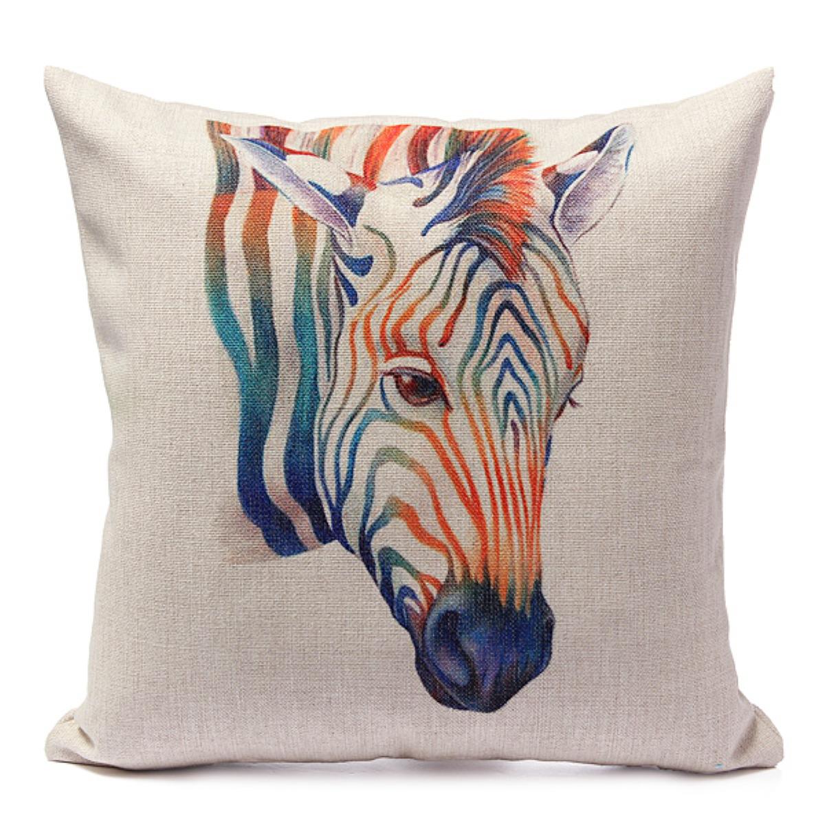 Animal World Home Decor Cotton Linen Pillow Case Sofa Waist Throw Cushion Cover eBay