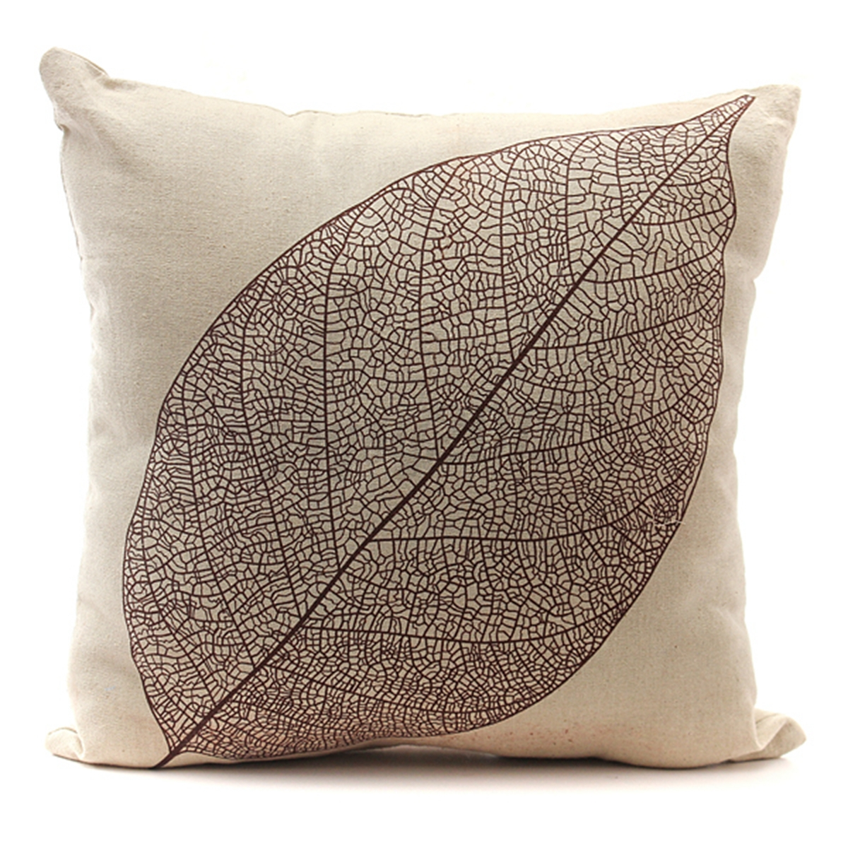 Cotton Linen Forest Leaf Throw Pillow Case Sofa Back Cushion Cover Home Decor eBay