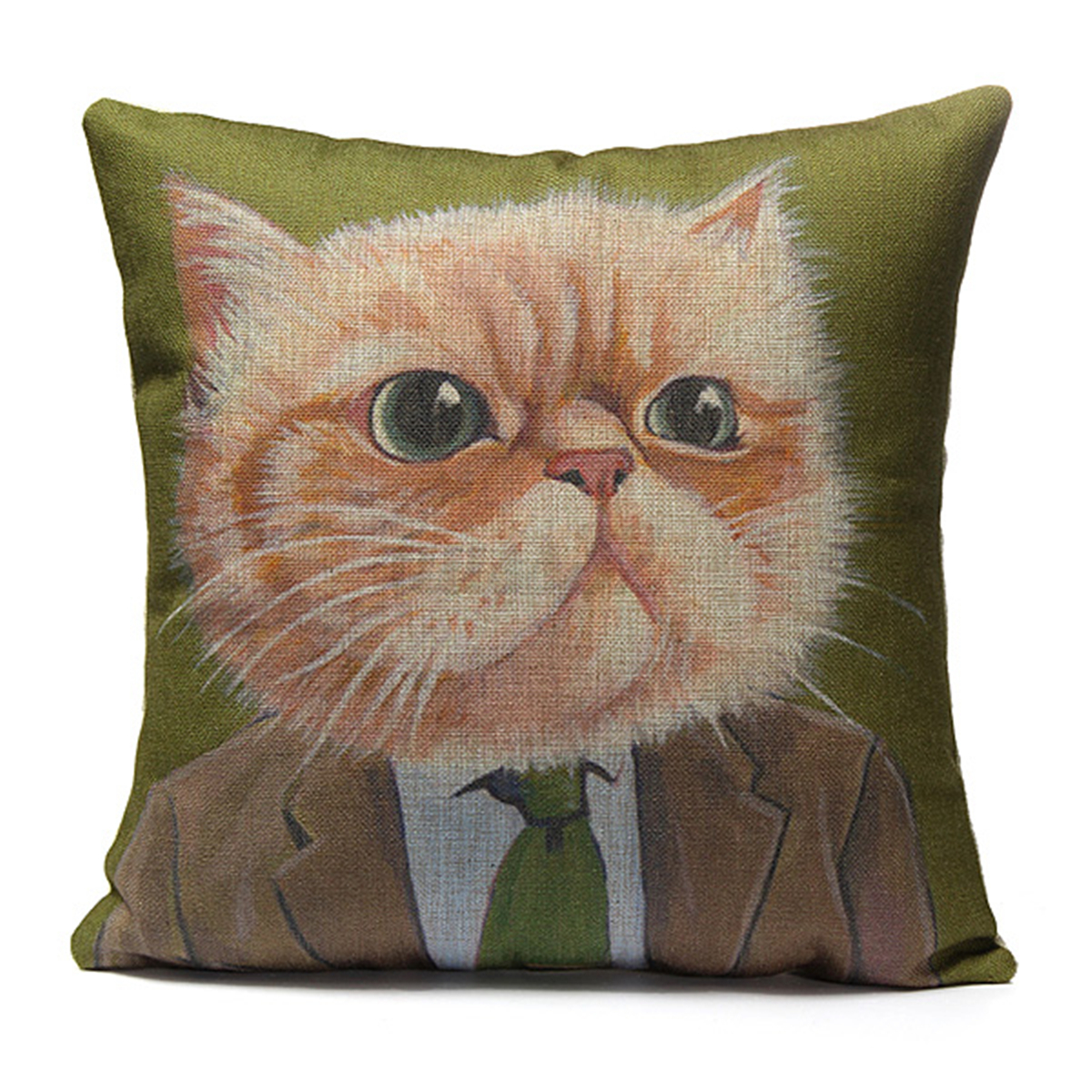 Vintage Animal Cat Cotton Pillow Case Sofa Throw Cushion Cover Home Car Decor eBay