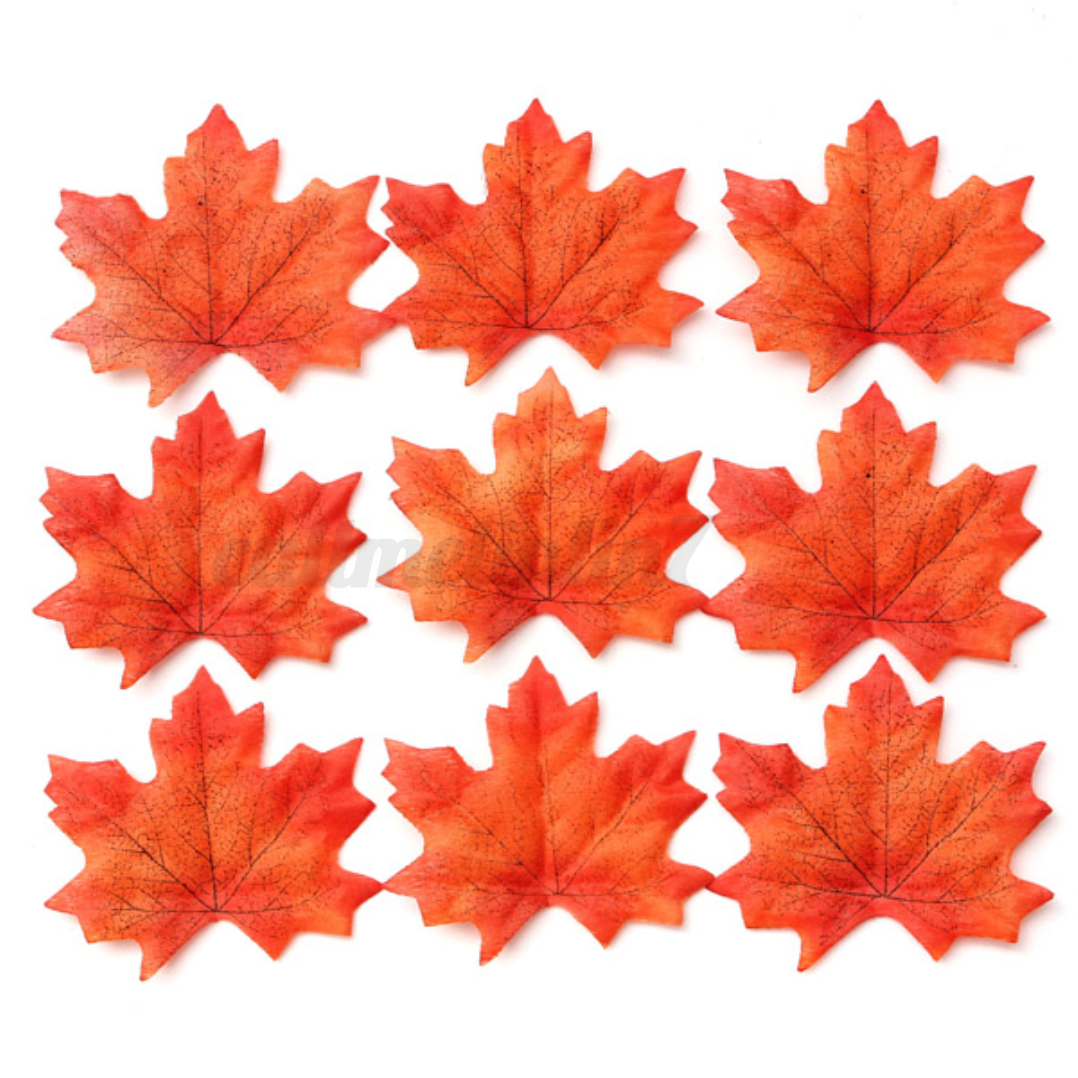 100 pcs artificial fall silk leaves wedding favor autumn for Artificial leaves for decoration