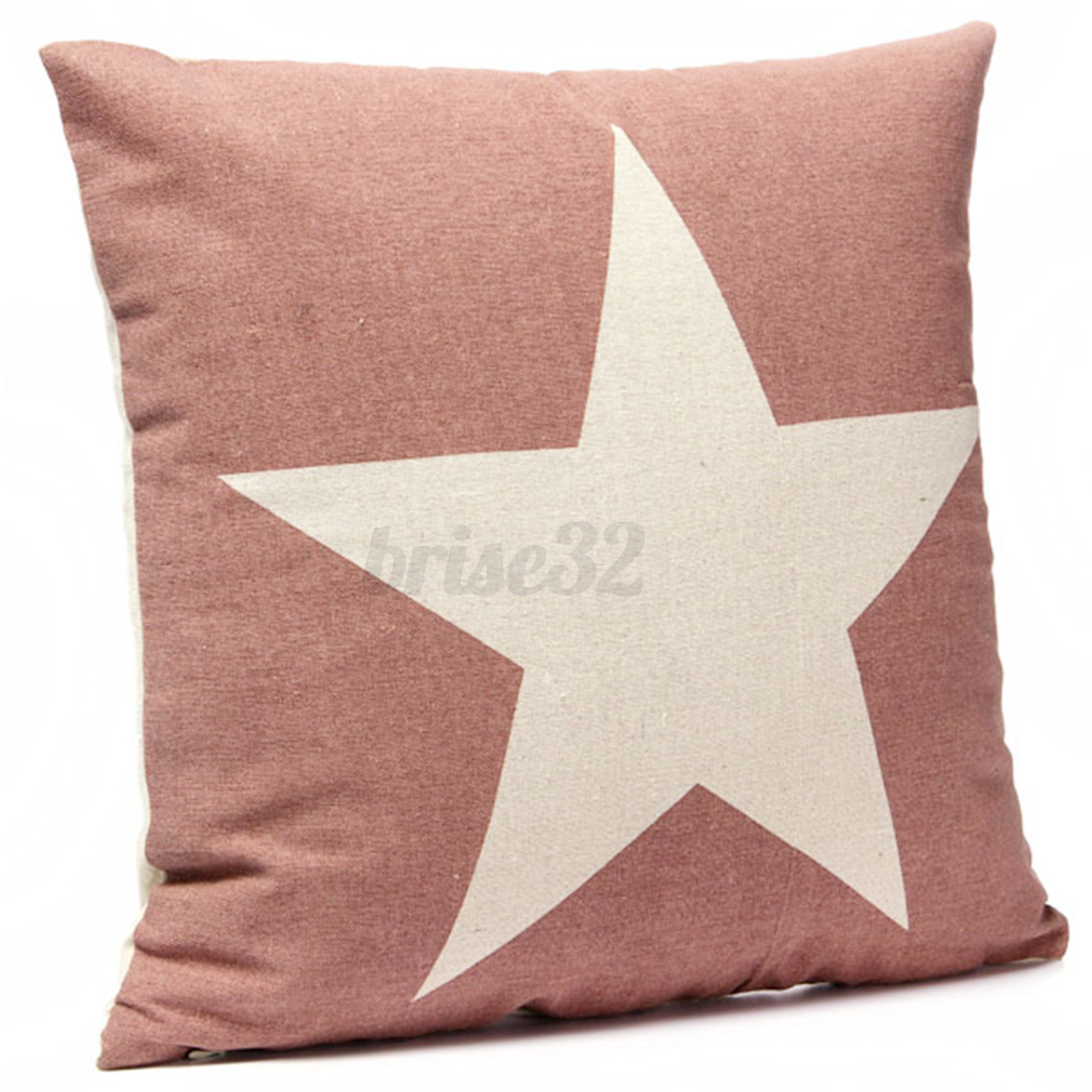 Throw Pillows With Stars : Cotten Linen Star Throw Pillow Case Cushion Cover Square Home Bed Sofa Car Decor eBay