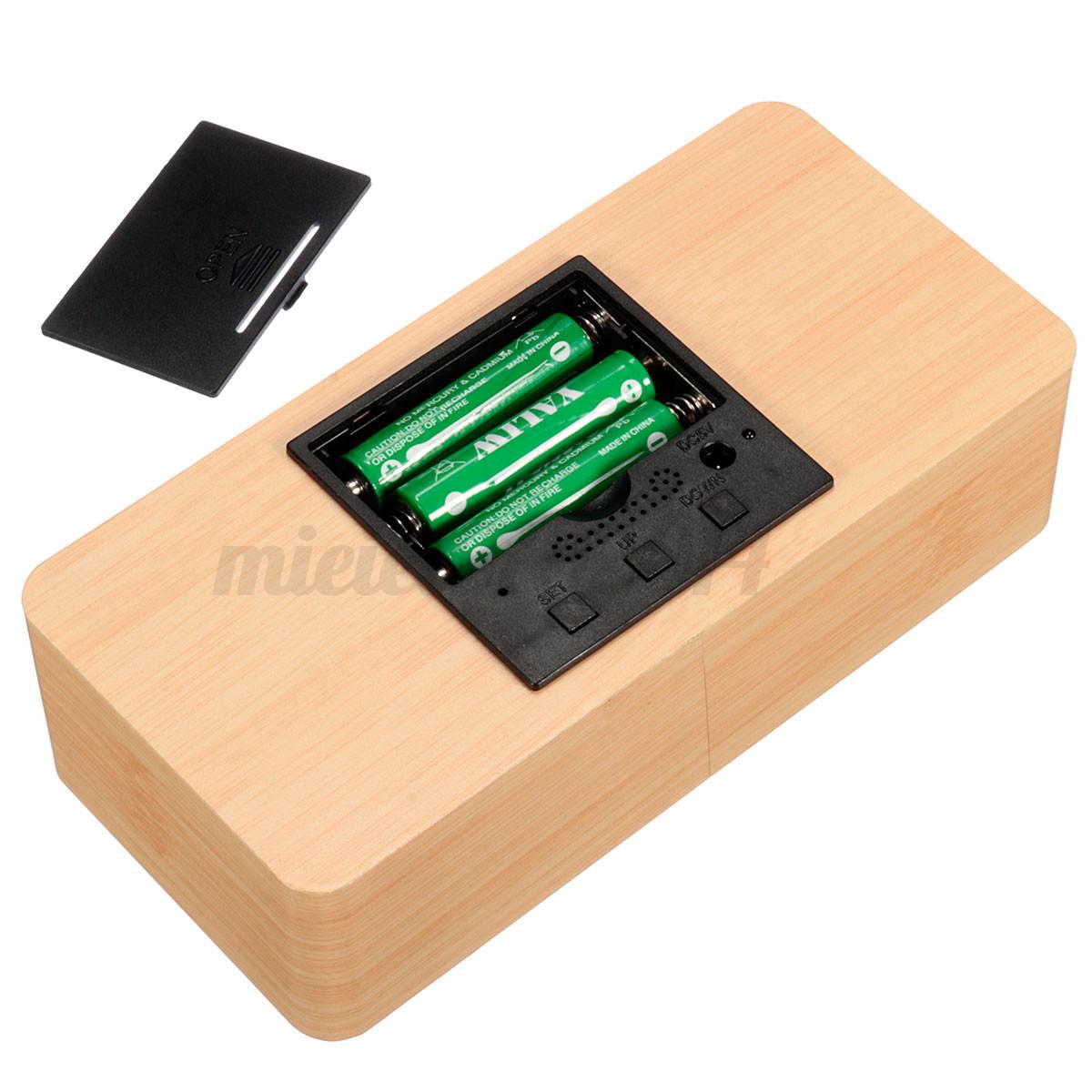 solmore digital led wooden holz wecker tisch uhr alarm. Black Bedroom Furniture Sets. Home Design Ideas