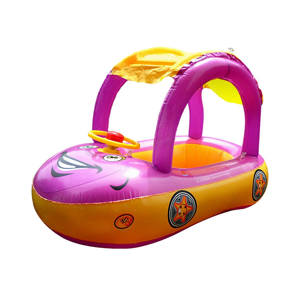 Adjustable Inflatable Baby Float Seat Boat Ring Car Sunshade Swim Pool Water Fun Ebay