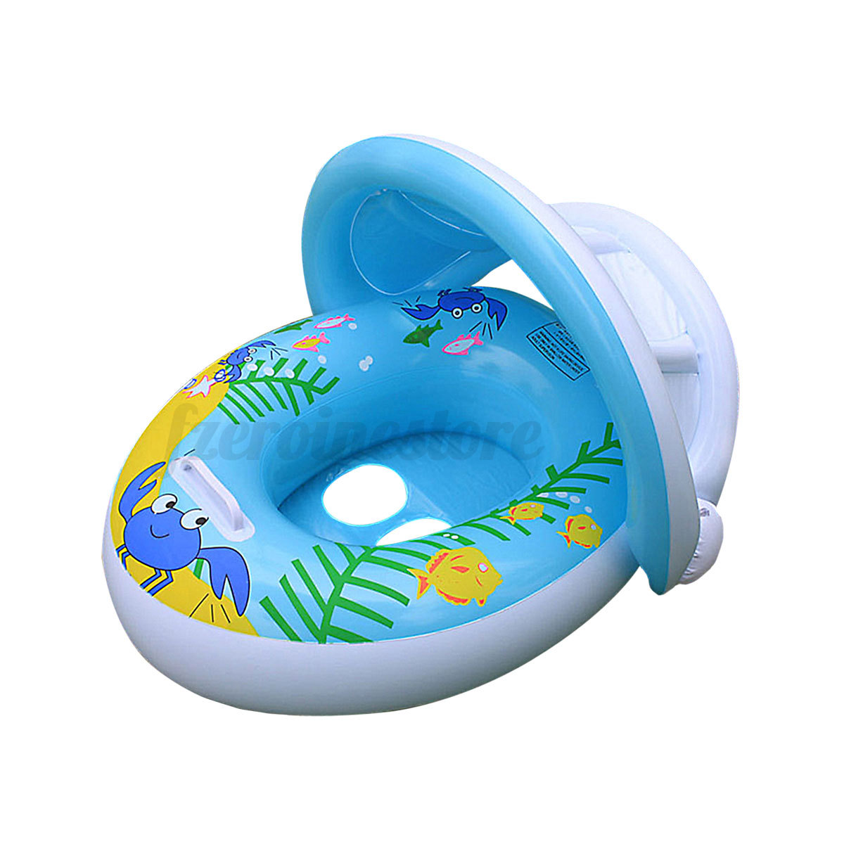 Inflatable Baby Ring Float Seat Boat Adjustable Sunshade
