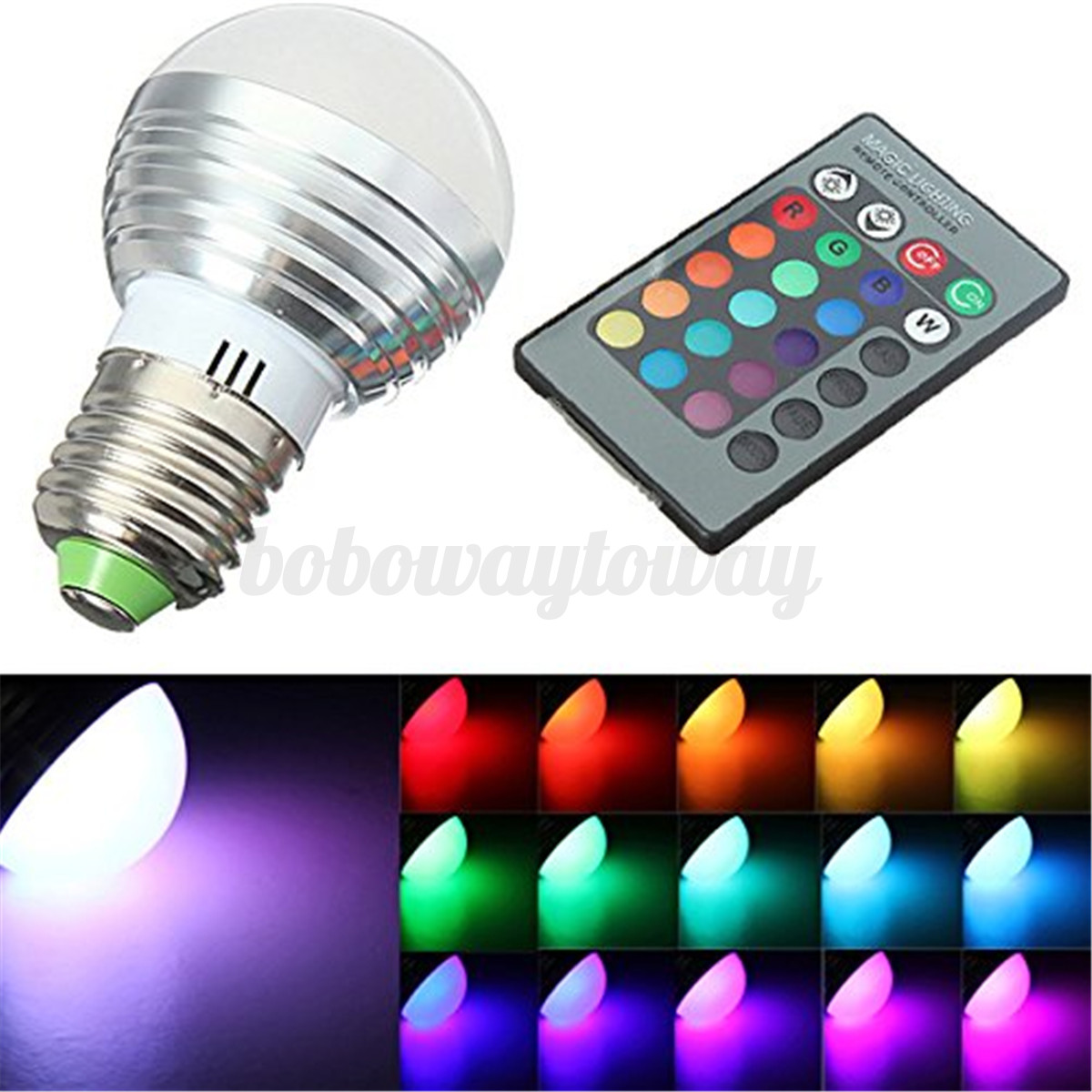 gu10 e14 e27 3w rgb led kugel lampe birne licht strahler leuchte fernbedienung ebay. Black Bedroom Furniture Sets. Home Design Ideas