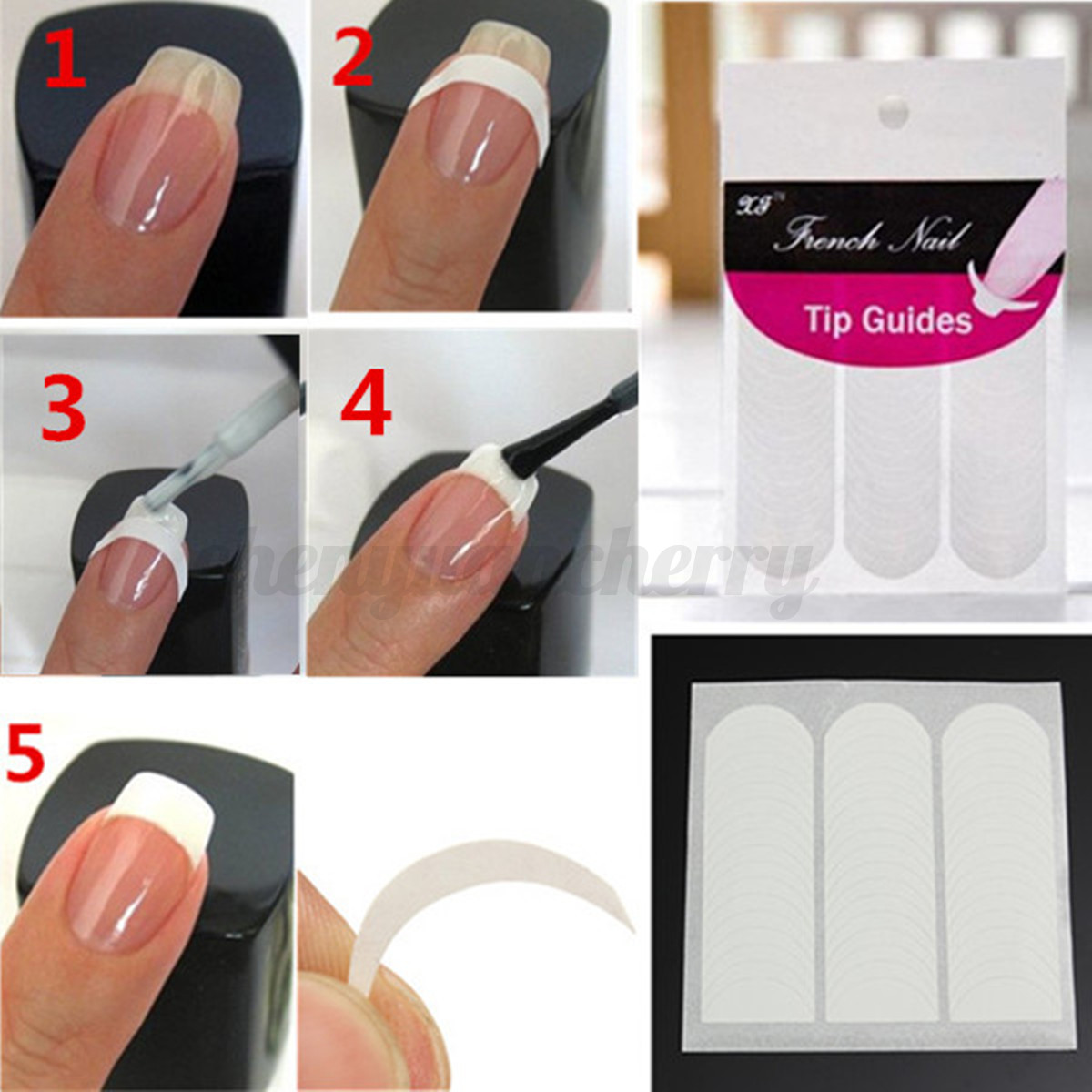 Nail Design Guide Stickers