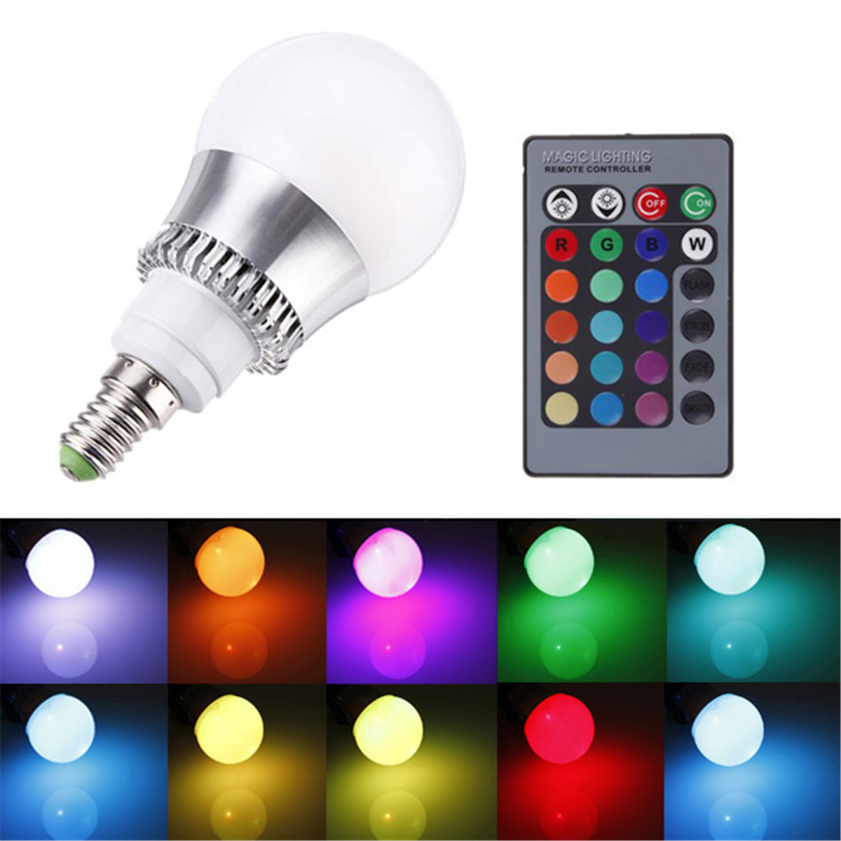 3 5 10w lampada e27 e14 rgb led lampadina faretto multicolore luce controller uk ebay. Black Bedroom Furniture Sets. Home Design Ideas