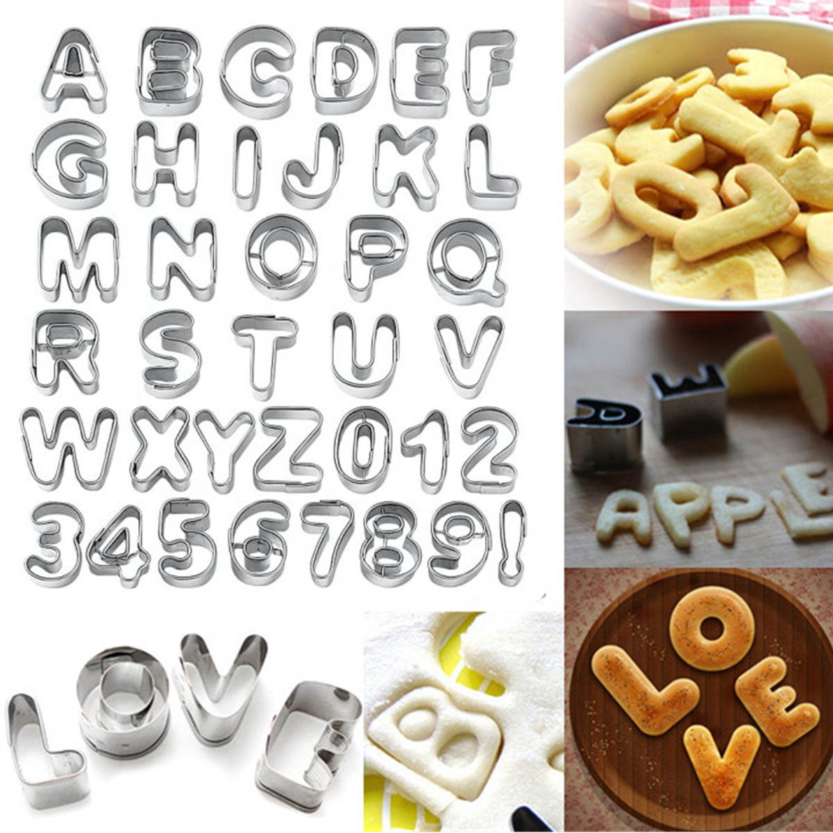 emporte pi ce alphabet chiffre lettre moule gateau patisserie p te 9 styles ebay. Black Bedroom Furniture Sets. Home Design Ideas