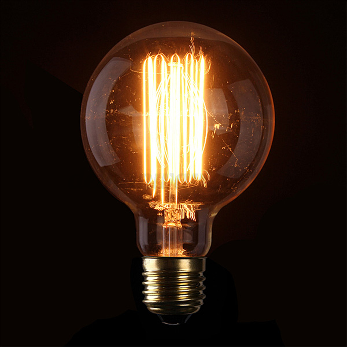 e27 e14 b22 40 60w vintage edison lampe ampoule douille filament carbone bulbs ebay. Black Bedroom Furniture Sets. Home Design Ideas
