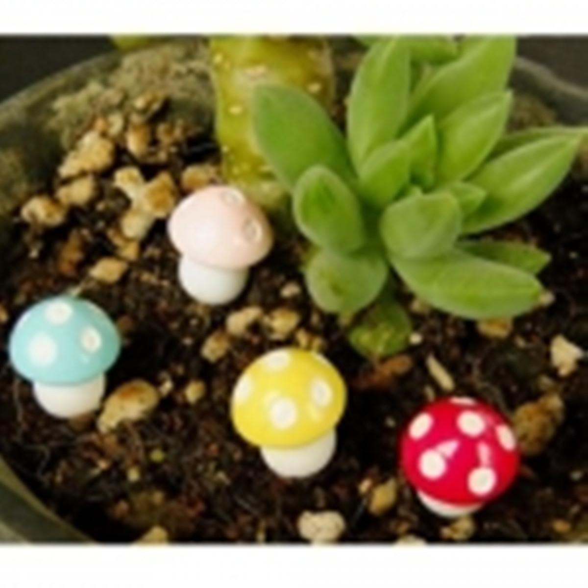9 estilo miniatura jard n terrario hongo seta decoraci n for Setas decoracion