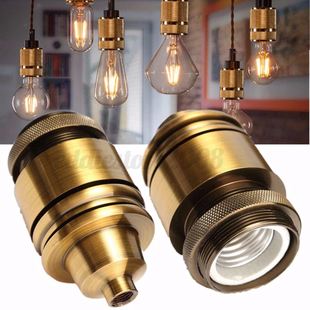e27 e26 industrial vintage solid brass light socket. Black Bedroom Furniture Sets. Home Design Ideas
