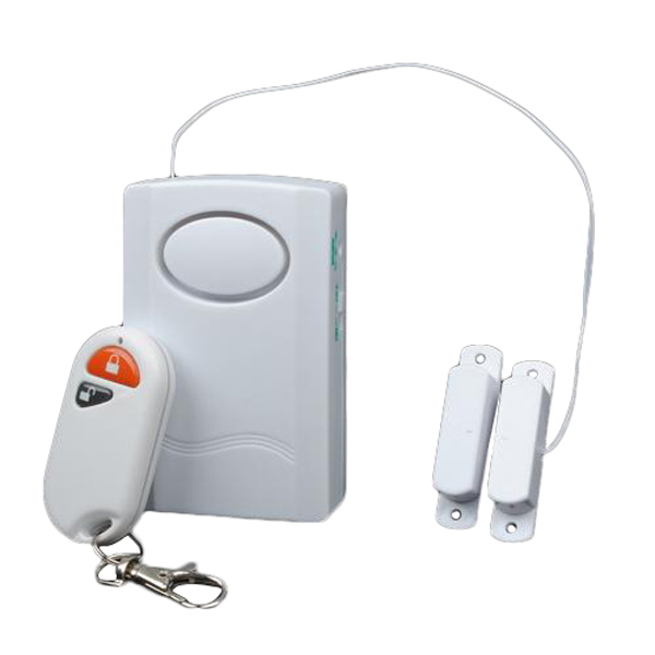 Remote control wired gate and door magnetic alarm system for 120 volt magnetic door switch