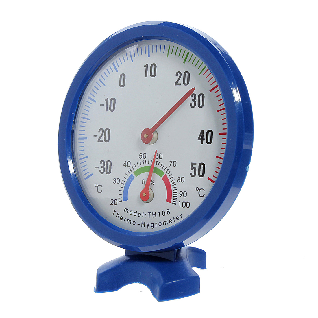 Indoor Outdoor Wall Hygrometer Humidity Thermometer Temperature Meter #23448A