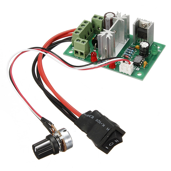 6v 12v 24v 6a dc motor speed controller switch width pwm for Fan motor speed control switch