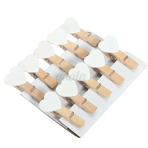 6 100 motiv miniklammern dekoklammern holz klammer. Black Bedroom Furniture Sets. Home Design Ideas
