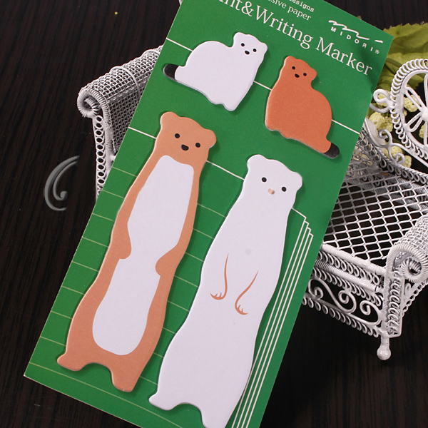 Animal Sticker Post Bookmark Point it Marker Memo Flags Index Tab Sticky Notes
