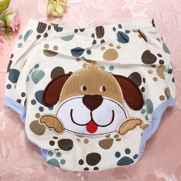 couche culotte d 39 apprentissage lavable r utilisable en coton animaux pour b b ebay. Black Bedroom Furniture Sets. Home Design Ideas