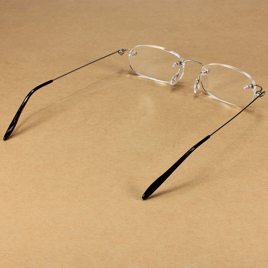 Rimless Glasses With Clear Bridge : Super Light Clear Rimless Reading Glasses With Carrying ...