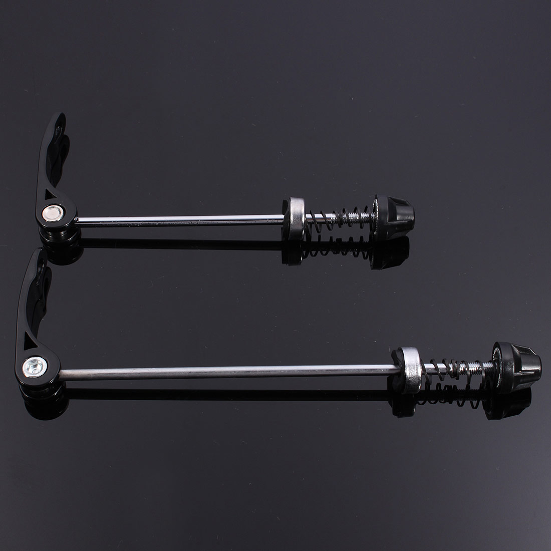 Pair Bicycle Wheel Skewers Clip Quick Release Bolt Lever Axle QR Front & Rear