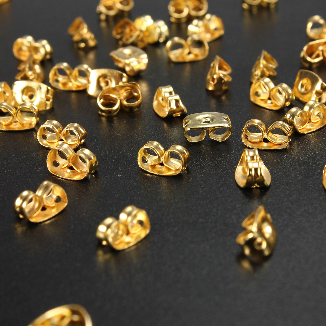 Image Is Loading Whole 50pcs Gold Plated Erfly Earring Backs Stopper
