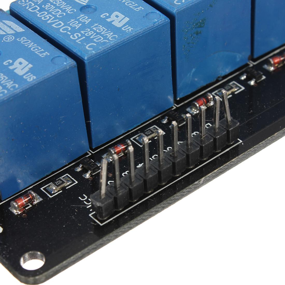 8 kanal channel relais relay modul 5v 250v optokoppler led for Koch 4 kanal led funkfernsteuerung