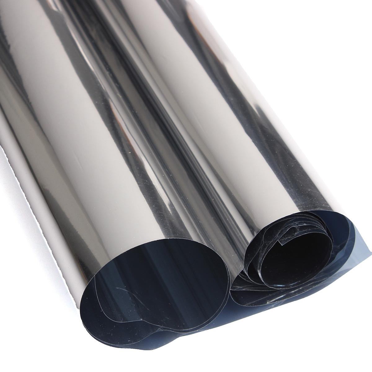 Quality 2m silver solar reflective window film insulation for 2 way mirror window film