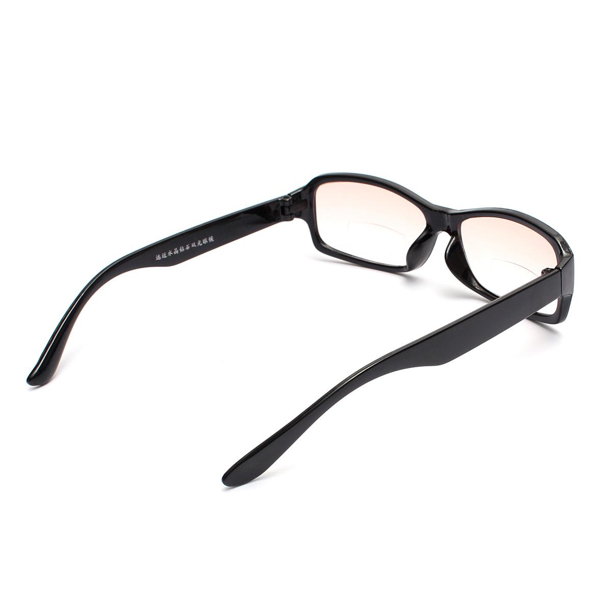 dual function bifocal reading glasses black unisex