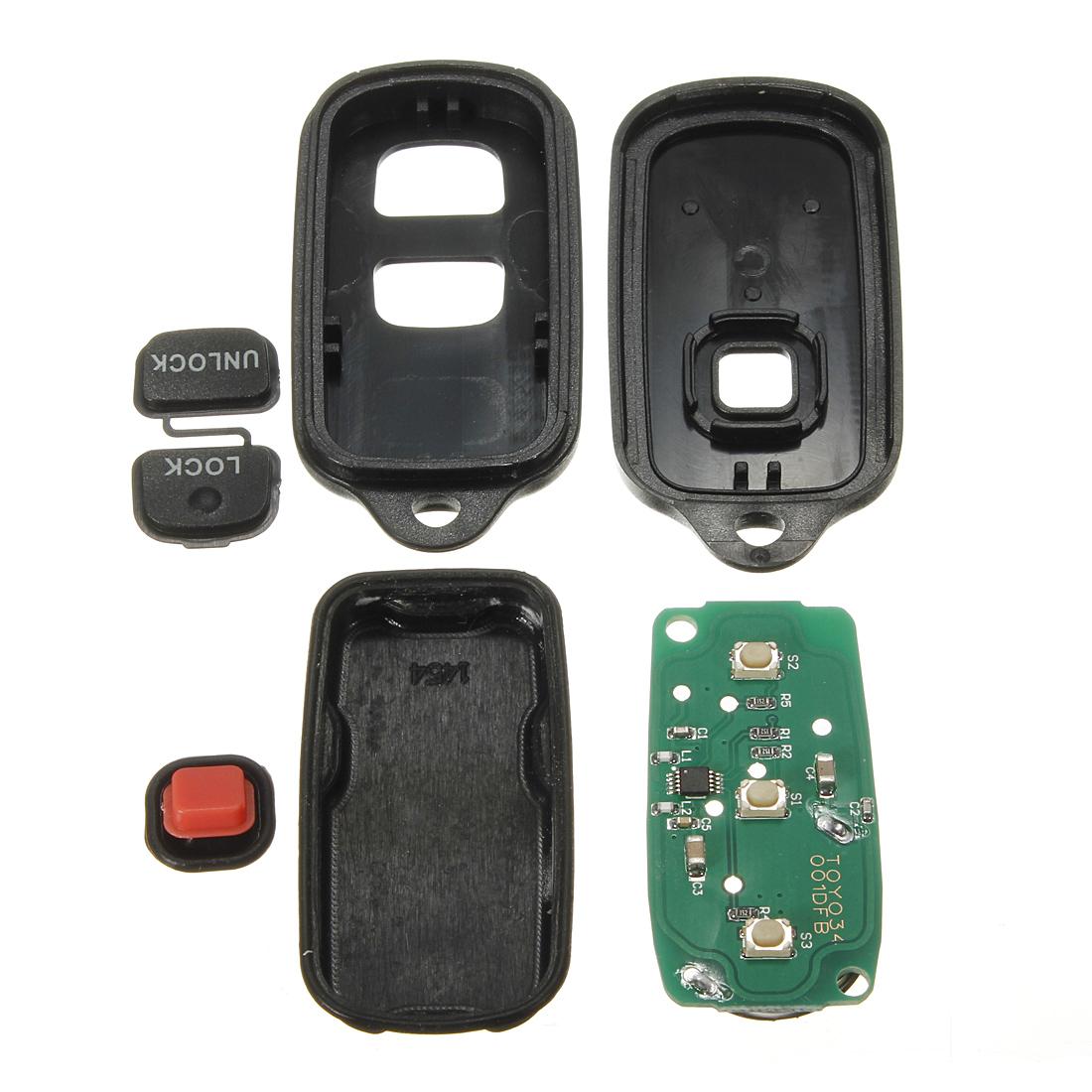 keyless remote entry key fob transmitter for toyota rav4. Black Bedroom Furniture Sets. Home Design Ideas