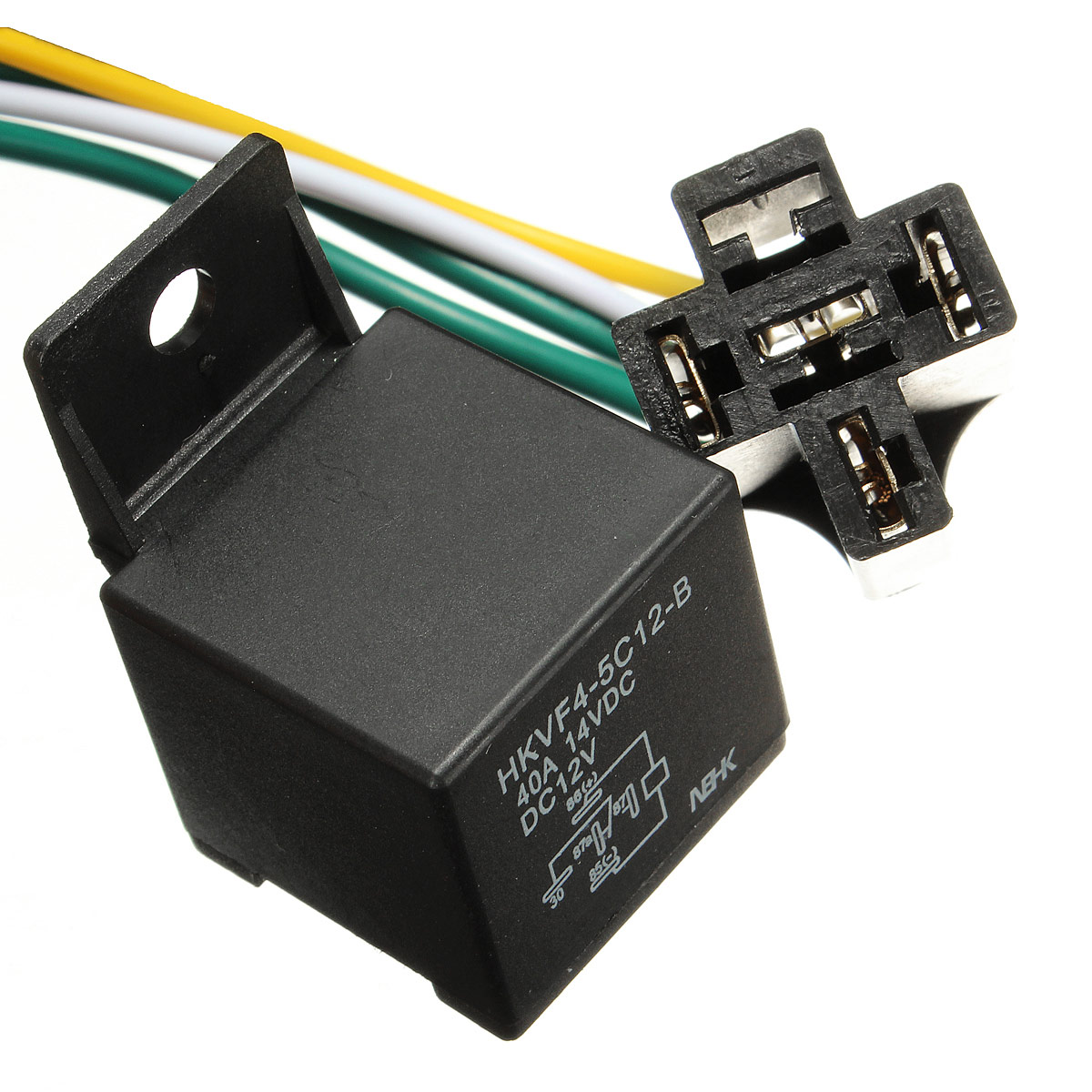 Buy Automotive Car Power Relay 12v 12 Volt Dc 40a Amp Harness Socket 4 Pin Wire Motorcycle In Hk Hong Kong For C 199