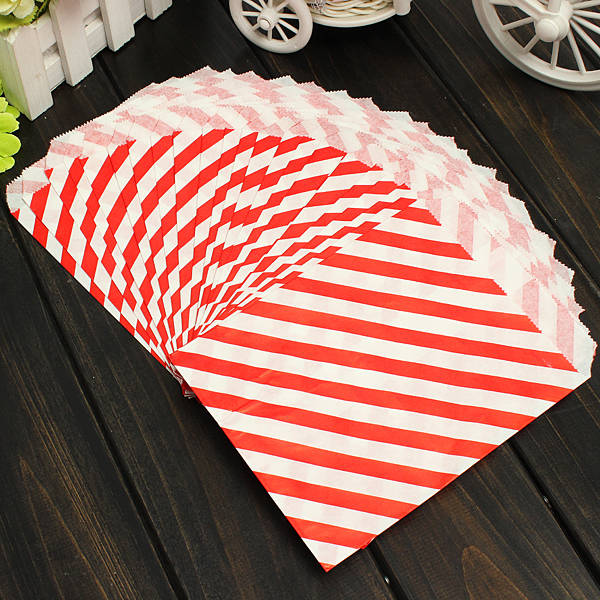 25/100pcs Sweet Bags Paper Candy Buffet Pick Mix Wedding Party Gift Food Bags