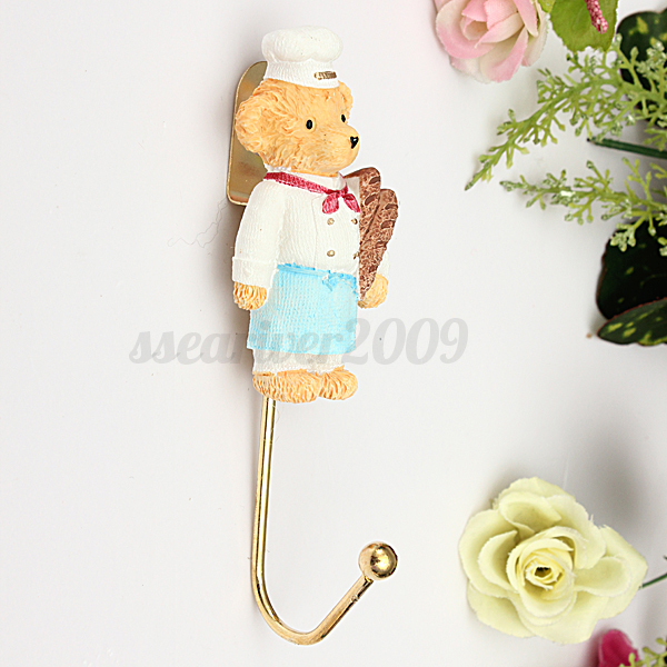 3d bear flower vintage wall mounted hook hat robe clothes hanger kids room decor ebay - Kids decorative wall hooks ...