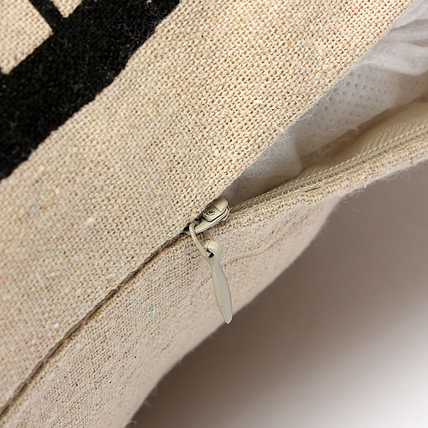 housse de coussin en lin taie d 39 oreiller canap maison cushion cover 43x43cm lit ebay. Black Bedroom Furniture Sets. Home Design Ideas