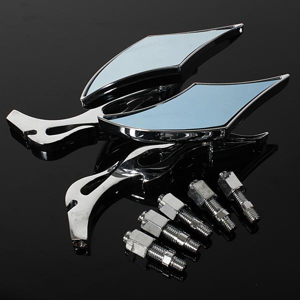2xuniversal diamant miroir retroviseur bleu aluminium for Diamant coupe miroir